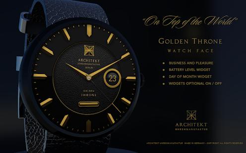 Golden Throne watch face screenshot