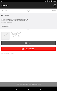 Viessmann Spare Part App- screenshot thumbnail