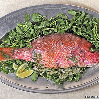 Whole Roasted Fish with Fennel.