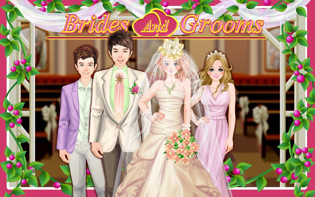 wedding dress up games bride and groom | Wedding