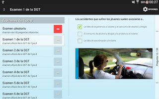 Screenshot of Tests Autoescuela DGT