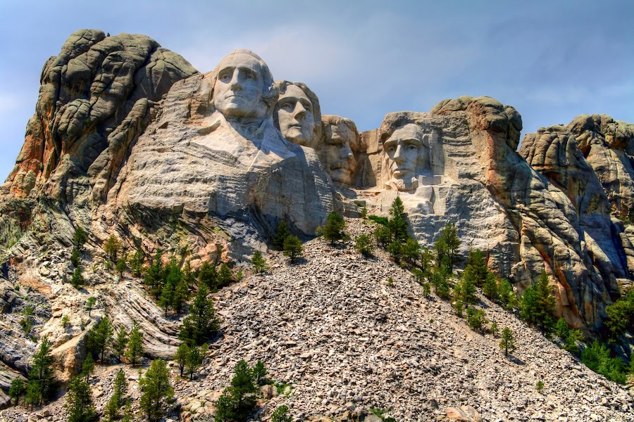 Mount Rushmore by Larry Jelken - Landscapes Mountains & Hills ( monuments, sculpture, mountains, rock formations, mount rushmore, stone, national parks, rocks )