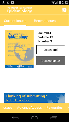 Int. Journal of Epidemiology
