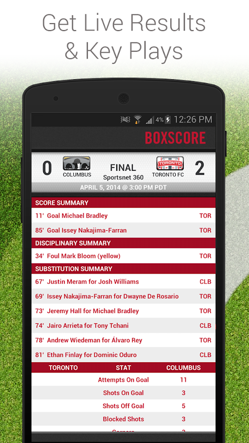 Toronto FC Mobile- screenshot