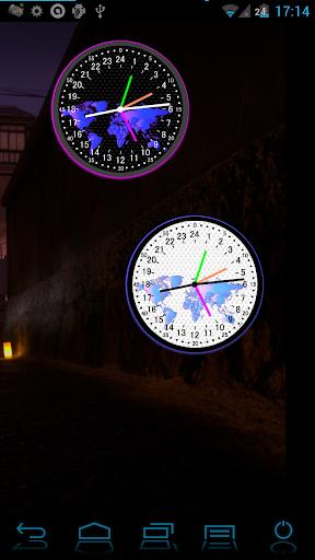24 시간 아날로그 세계 시계