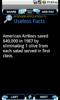 Screenshot of Useless Facts 2012 - Free