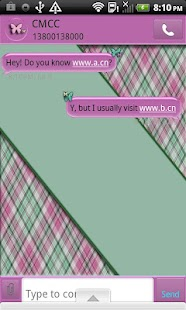 GO SMS THEME/PlaidButterflys4- screenshot thumbnail
