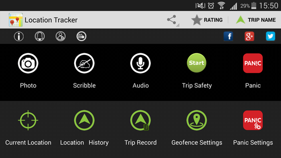 Location Tracker - screenshot