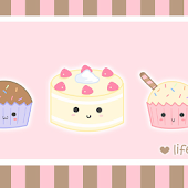Cute Kawaii Cupcakes LWP