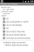 Screenshot of Network Type Indicator