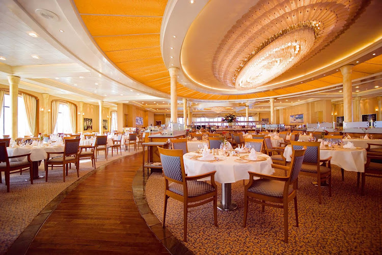 Head to the main restaurant aboard Europa 2 for good food, smart service and an elegant, contemporary ambiance.