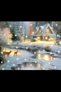 Thomas Kinkade Snow globe - screenshot thumbnail