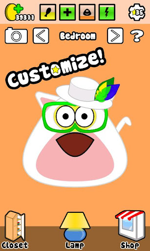 Pou v1.4.1 Mod (Unlimited Money & Free Shopping & Free Potions Colors