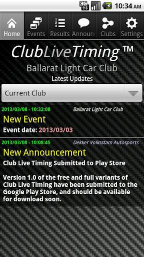Club Live Timing