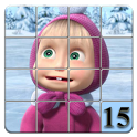 15 puzzle Masha and Bear icon