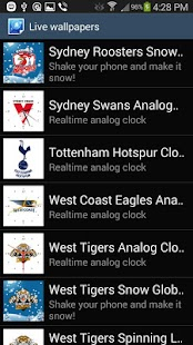 Sydney Roosters Snow Globe- screenshot thumbnail