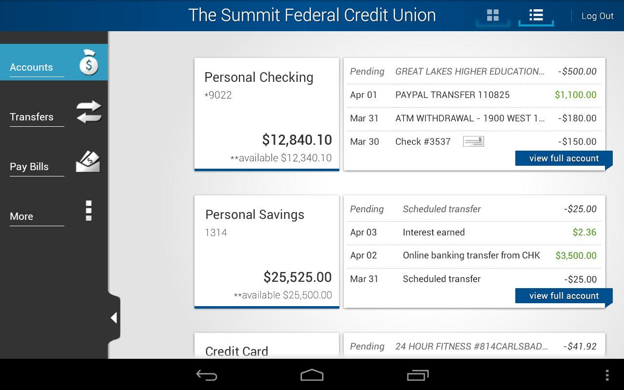 The Summit FCU - screenshot