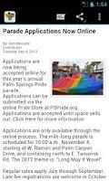 Screenshot of Palm Springs Pride