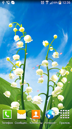 May Lilies Live Wallpaper