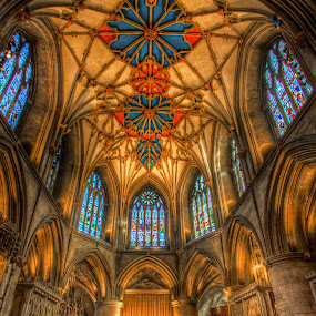 Tewksbury Abbey by G. Stetson - Buildings & Architecture Places of Worship ( , Architecture, Ceilings, Ceiling, Buildings, Building )