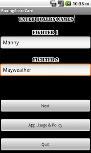 Boxing Score Card- screenshot thumbnail