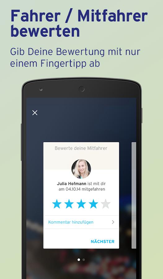 Mitfahrgelegenheit – Reise App- screenshot