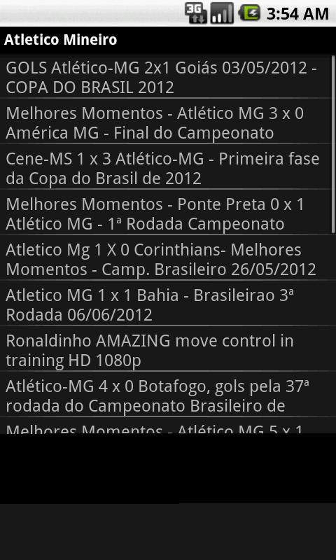 Noticias do Atletico Mineiro - screenshot