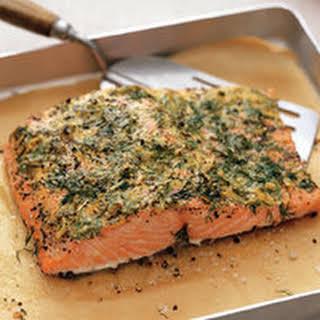 Mustard-Crusted Salmon.