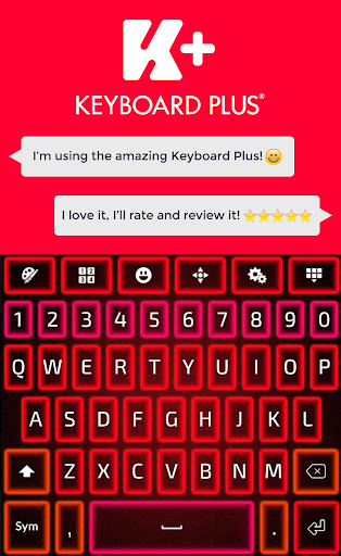 玩個人化App|Glow Red Keyboard免費|APP試玩