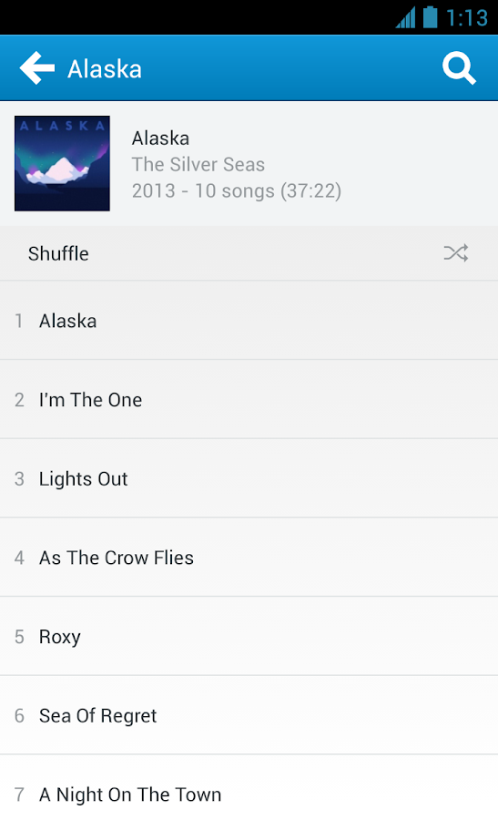 Rdio - screenshot