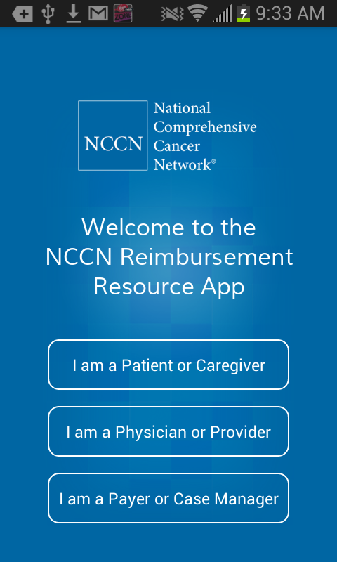 NCCN Reimbursement Resource- screenshot