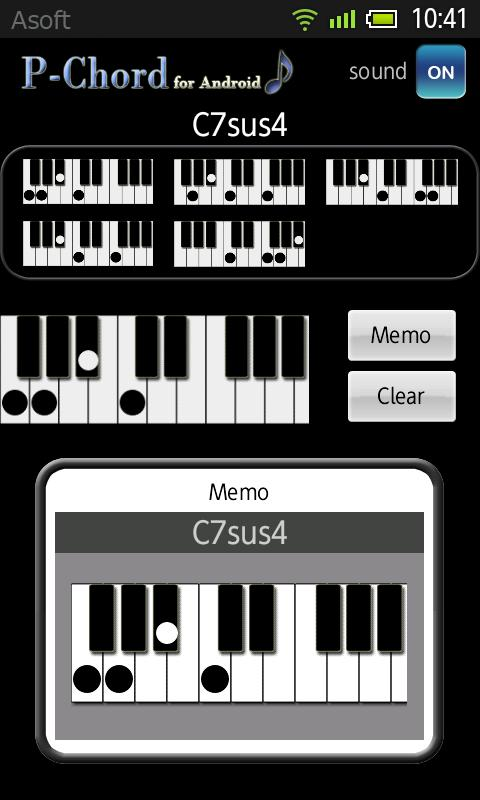 PChord (Piano Chord) No Ads- screenshot