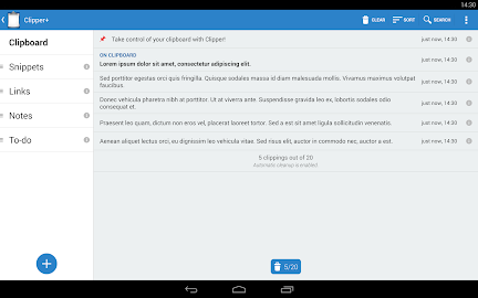 Clipper Plus with Sync Screenshot 1