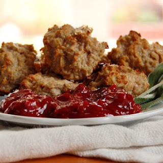 Thanksgiving Meatballs with Cranberry Barbeque Sauce