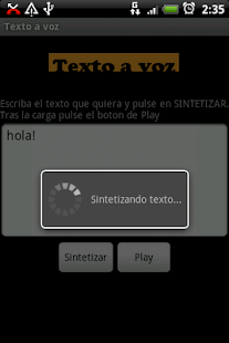 Texto a voz - screenshot thumbnail