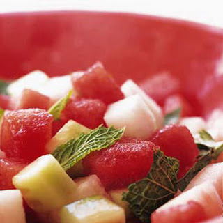 Watermelon, Cucumber, and Jícama Salad