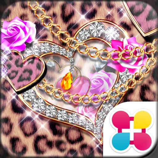 Leopard Hearts Wallpaper Theme Icon