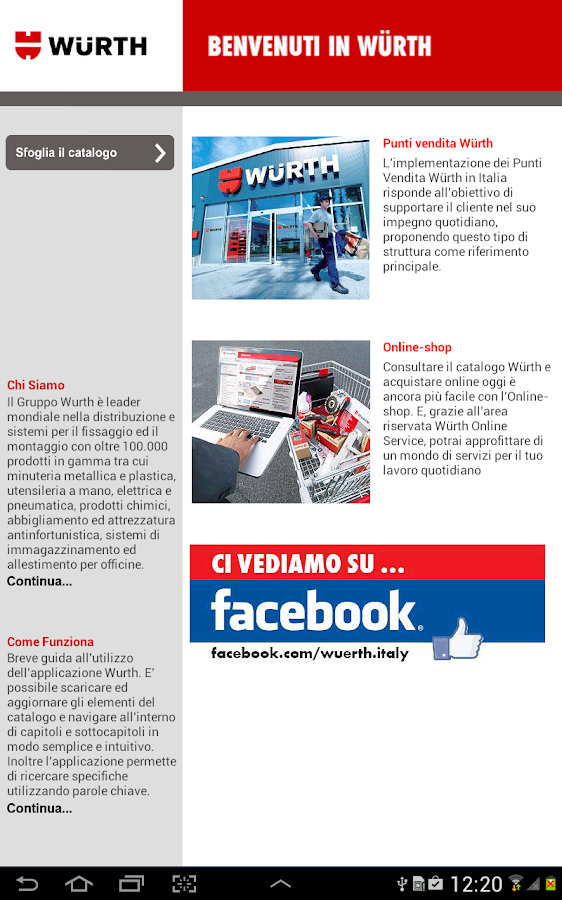 Catalogo Generale Würth Italia - screenshot