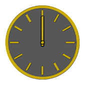 Glossy Analog Clock Widgets