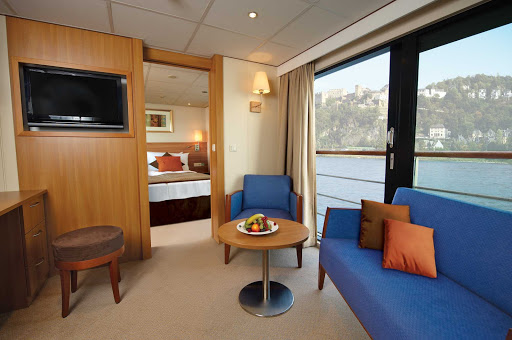 Viking-Legend-Suite - The spacious suites aboard Viking Legend offer you a place to retreat to during your journey along the Danube River.