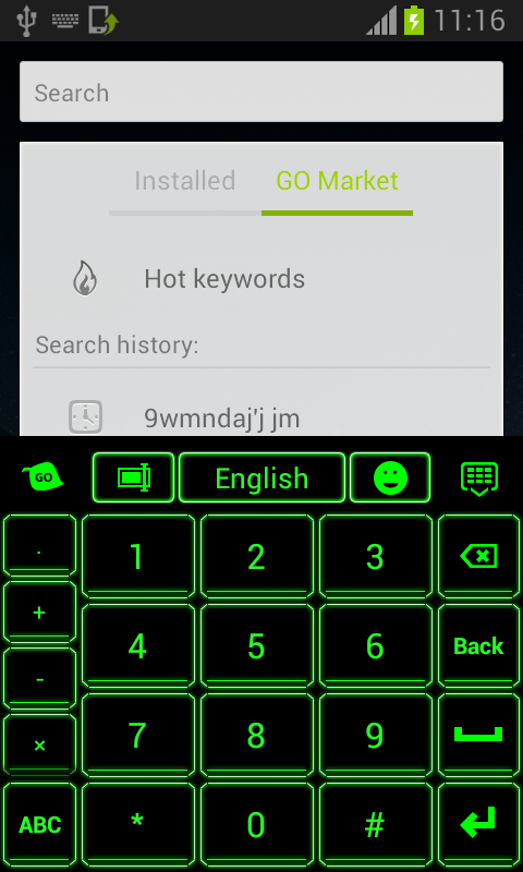 Keyboard Customizer Neon - screenshot