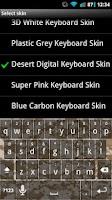 Screenshot of Desert Digital Keyboard Skin