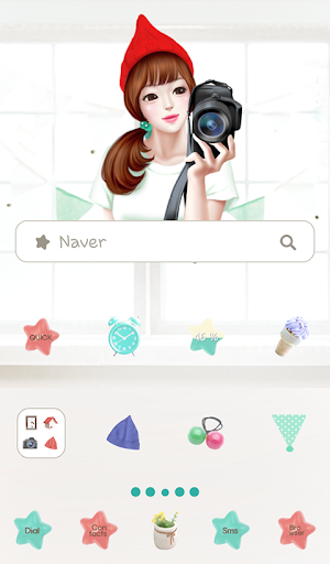 lovely girl cheese dodol theme