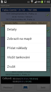 Lokatory.cz logbook- screenshot thumbnail