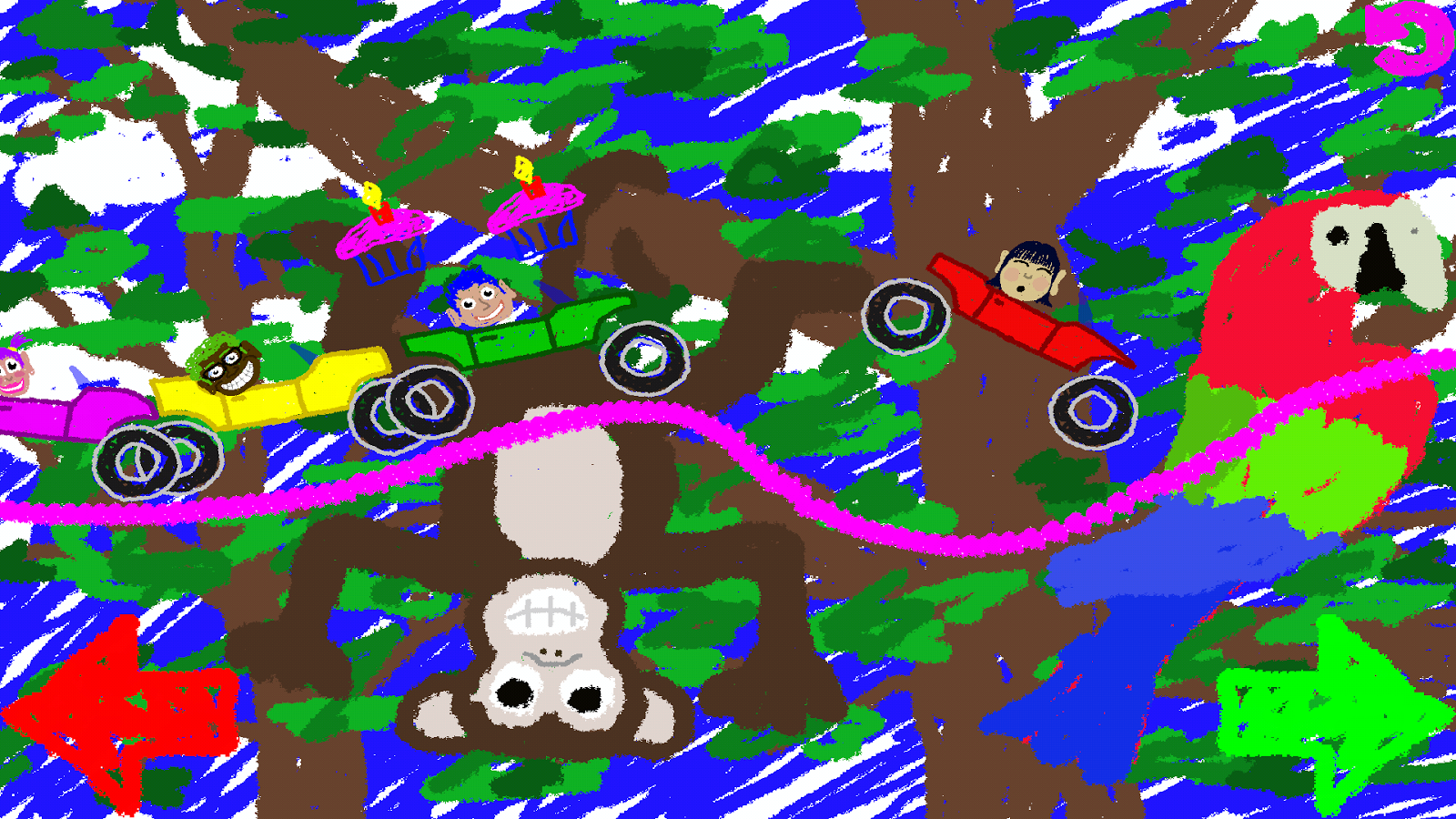 Scribble Scramble Racing- screenshot