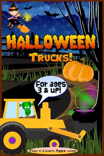 Toddler Halloween Truck Games