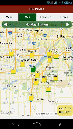 E85 Station Locator and Prices
