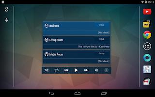 Screenshot of Sonos Widget