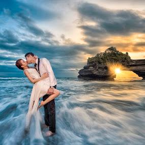 love. wave by Wee Heong - Wedding Bride & Groom ( love, bali, wedding, romantic, wave, bride )