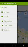 Screenshot of Arrivo Wellington Lite Transit